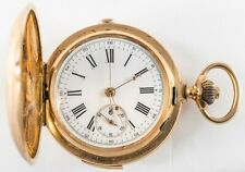 13k 1/4 Hour Repeater Hunter Pocket Watch / Stop Watch 53mm