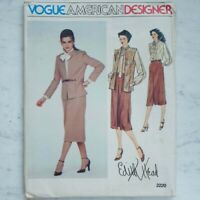 Vogue 2220 UNCUT Sewing Pattern 1979 Jacket Blouse Skirt by Edith Head Size 14
