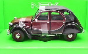MODELLINO AUTO CITROEN 2CV 2 CV SCALA 1:24 CAR MODEL DA COLLEZIONE DIECAST COCHE