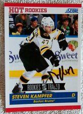Boston Bruins Steven Kampfer Signed 2010/11 Score Hot Rookies Card Auto