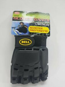 Bell Sports Scooter Black/Gray Fingerless Armor Gloves, Size Young L/XL
