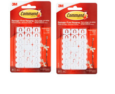 (2 Pack)  3M Command Decorating 20 Clips (40 Total) Damage-Free Hanging 17026-ES