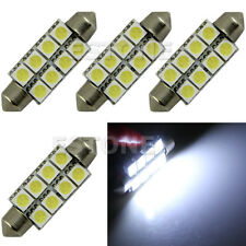 4X White 42MM 5050 8-SMD Festoon Dome Map Interior LED Light bulb