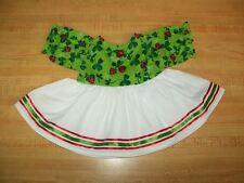 """Green St Patricks Shamrock+Ladybug Ribbon Dress for 16"""" Cpk Cabbage Patch Kids"""