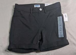Old Navy Boy's Rolled Hem French Terry Stretch Shorts SV3 Black Large (10-12)