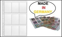 100 DIN A4 TRADING CARDS Sammelhüllen Sammelkarten 9 Taschen Folie Hülle Schutz