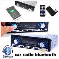 Radio Bluetooth Car In-Dash Stereo MP3 Player FM Receiver AUX Remote Control Kit