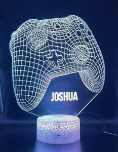 Personalised Gamer Gift 3D Effect  Multicolour Led Xbox  Light   Christmas Gift