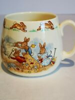 "Royal Doulton ""Bunnykins"" Mug. ""At the Beach"".  In MINT condition."