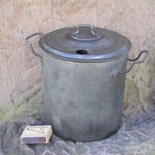 alte mini Einkochtopf Einwecktopf mit Einsatz 210mm aus verzinntem Blech