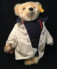 Steiff Mohair Polo Ralph Lauren Nautical Bear Sweater Tan Raincoat 027147