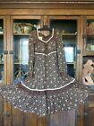 vintage Gunne Sax dress floral print hippie boho peasant prairie style 1970s