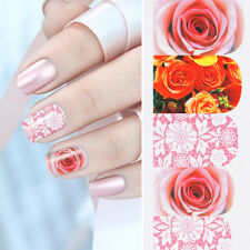 Water Decals Nail Art Transfer Stickers Manicure Decor Rose Flower 12 Patterns