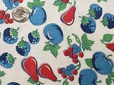 Best Vintage Feedsack Quilt Fabric 40s Tiny Fruits Novelty Flour Full Sack