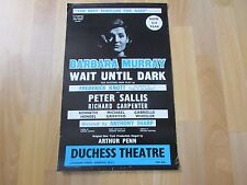 WAIT Until DARK Peter SALLIS & Barbara MURRAY Original DUCHESS Theatre Poster
