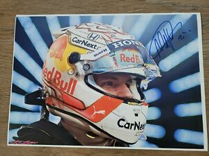 MAX VERSTAPPEN HAND SIGNED A4 PICTURE RED BULL RACING FORMULA 1 F1 MEMORABILIA