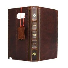 genuine vintage leather Case for samsung galaxy note 5 book wallet bible cover l