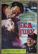SEA FURY British 1-sheet 1958 MOVIE POSTER 1958 Stanley Baker - Robert Shaw
