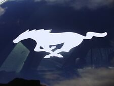 "FORD MUSTANG PONY LOGO EMBLEM BUMPER STICKER DECAL 9""X3"" NEW 5 COLORS"