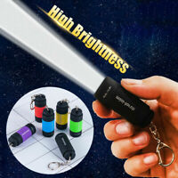 New Waterproof Mini USB Rechargeable LED Torch Lamp Flashlight Keychain Keyring