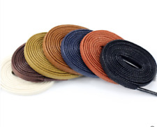 wholesale Multi Color Cotton flat Waxed Round Cords Strings shoe laces 60--180cm