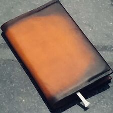 "W Leatherworx Distressed Hermann Oak Cowhide Leather Journal cover 3-1/34""x51/2"""