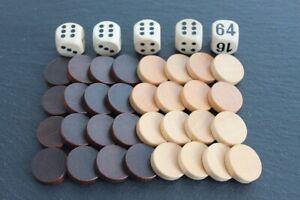 Spielsteine für Backgammon, Dame, Mühle, Tavli u.a.
