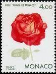 """MONACO N° 1840 """"GENOVA '92, ROSE, PRINCE DE MONACO"""" xxTTB"""