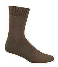 3 X Pair 92 Bamboo Work Socks Extra Thick All Sizes All Colours BT Post Mens 14-18 Khaki
