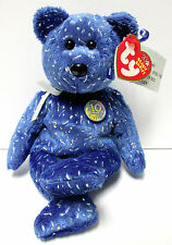 "Ty Beanie Baby ""Decade Royal Blue 10th Year Bear"" PRISTINE Brand New w/Mint Tags"