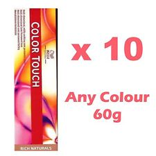 Wella Color Touch Colour Semi-permanent Highlight Hair Dye Brown Red Natural x10