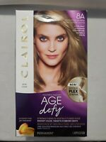 Clairol Age Defy 8A Medium Ash Blonde Permanent Hair Dye Color Repair Gray Cover