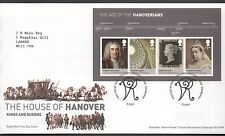 GB 2011 FDC Kings & Queens House of Hanover MINISHEET Edinburgh postmark stamps