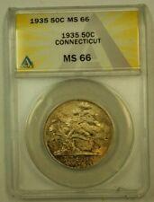 1935 Connecticut Commemorative Half Dollar 50c ANACS MS-66