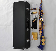 Professional Blue Gold Soprano saxophone Saxello sax Curved bell High F# G New
