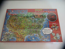 Dino's Illustrated Map of the USA Giant 500 Piece Jigsaw Puzzle New Sealed