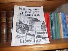New England - New York Ancestors Before 1850 Genealogy Book