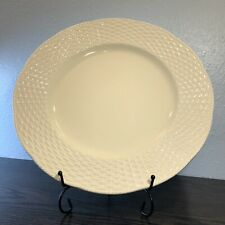 "Mikasa 'Country Manor' Cream basket weave FF002 12 3/4"" Chop Plate"