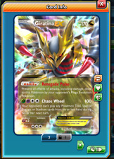 RA Giratina-EX Regular Art Pokemon TCG ONLINE ( PTCGO digital card )