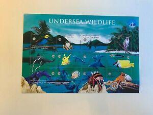DJIBOUTI 1998 MNH MINISHEET OCEAN YEAR SHARK OCTOPUS CRAB BIRD FROG DOLPHIN FISH
