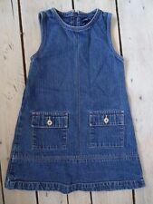 Robe en jeans bleue foncée 2 poches sur les hanches TEX BASIC Taille 4 ans