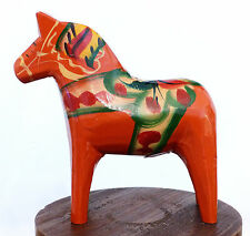 Vintage SWEDEN Wood DALA HORSE Nils Olsson NUSNAS Label CARVING Folk Art