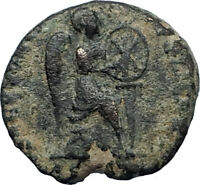 EUDOXIA Arcadius Wife 401AD Authentic Ancient Roman Coin VICTORY CHI-RHO i67514