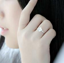 Japaness Korea Style Flower Ring Female Open Cherry Flower Ring 925 Silver Plate