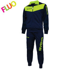 3c3e7934379e GIVOVA Tuta Visa Fluo Completo a Manica Lunga e Pantalone - Blu/Giallo, L