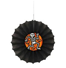 "1 ""Scaredy Bat"" Skeleton Paper Deco Fan Hanging Decoration 12"" Halloween Party"