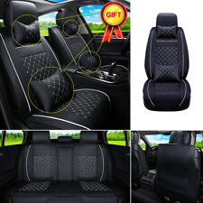 Top PU Leather Luxurious Car Seat Cover 5-Seats SUV Front+Rear Cushion +Pillow
