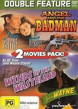 JOHN WAYNE - DOUBLE FEATURE - ANGEL AND THE BADMAN & WINDS OF WASTELAND - DVD