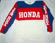 Vtg 70s Hondaline Motocross Shirt Team Honda Size M Long Sleeve Usa