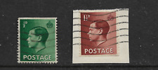 King Edward Viii ½d Green 1½d Brown Both Have One Edge Imperf. My Ref 994